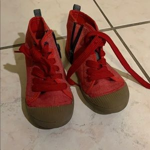 Cat and Jack Red Sneakers sz 9